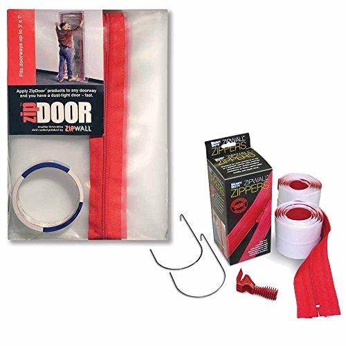ZipWall ZipDoor Kit w/ 2-Pack Heavy Duty Zipper by ZipWall