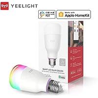 Yeelight Tunable Dimmable Smart LED Color RGB Light Bulb Wi-Fi E26 E27 Works with Google Assistant, Apple Homekit, Alexa