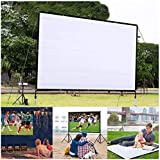 MUDEREK Foldable Anti-Crease for Home Theater Indoor Outdoor Projector Movie Screen Projection Screens