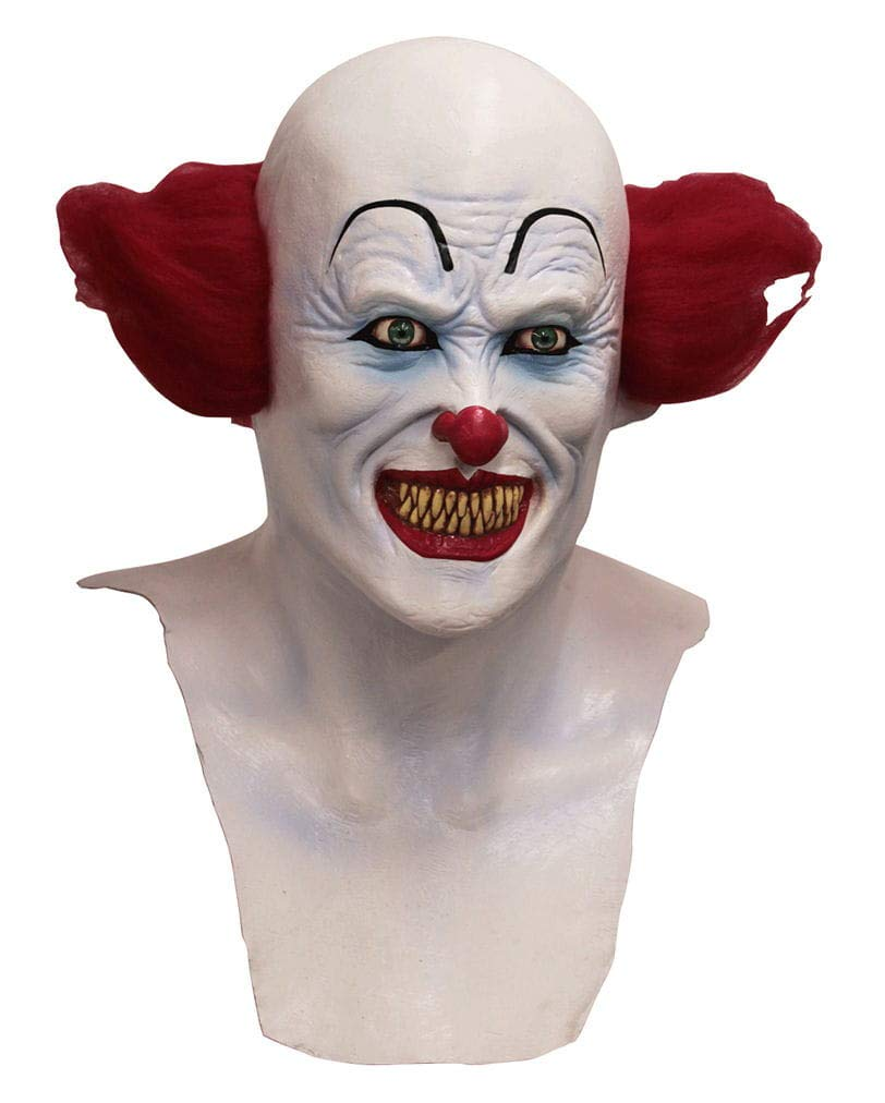 Horror Halloween Clown-Maske mit Brust Zirkus aus dem Zirkus Brust der Bösewichte 5b5369