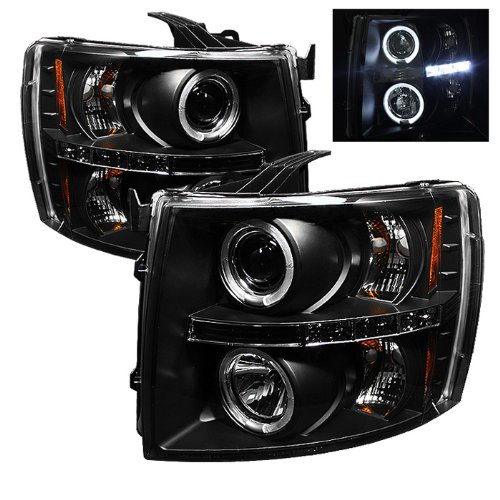 Spyder Auto 5009494 LED Halo Projector Headlights Black/Clear