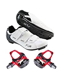 Breathable removable inner bottom road bike shoes with road bike lock pedal