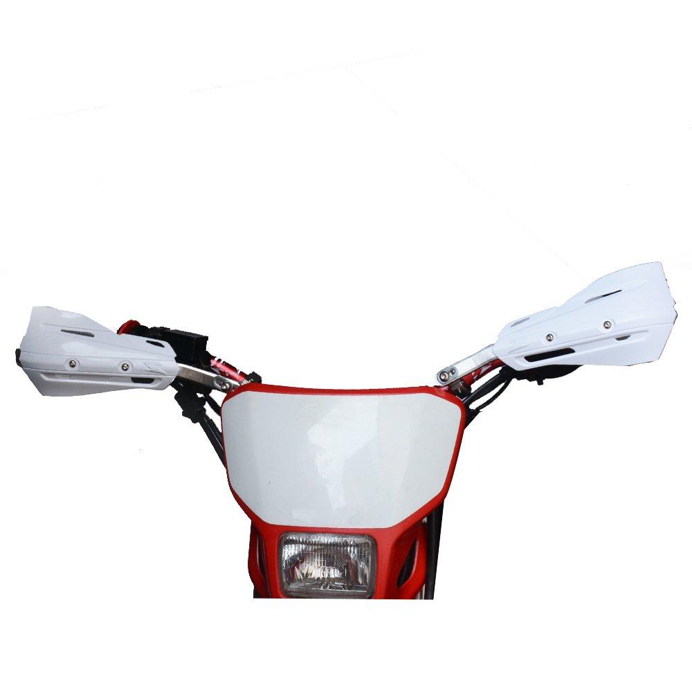 Dirt Bike Universal 7//8 inches 22mm and 1 1//8 inches 28mm Honda Kawasaki Suzuki KTMYamaha Motorcycle MX Supermoto Racing ATV Quad KAYO Black Fast pro Hand Guards Handguards Guard Handguard