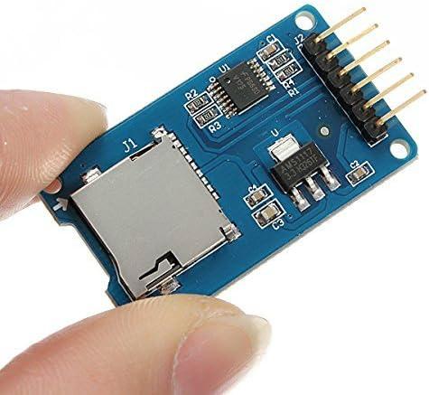 CAOLATOR.M/ódulo de Tarjeta SD Interfaz SPI Lector de Tarjetas TF con Chip de Cambio de Nivel para Arduino