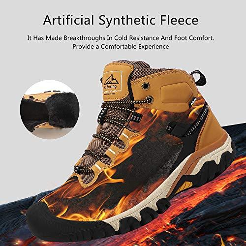 AX BOXING Bottes Homme Hiver Bottines Randonnée Trekking Chaudes Fourrées Chaussures Taille 41-46 4