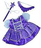 Purple Fairy Princess Dress w/Wand Teddy Bear