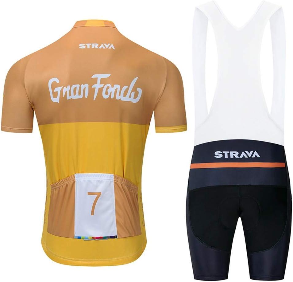 STEPANZU Mens Cycling Clothing Short Sleeve Men Bike Suits Set 3D Gel Padded Bib Shorts