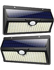 Feob 138 LED Lampe Solaire Extérieur [2500mAH Puissante Lumière ] Détecteur de Movement led éclairage Extérieur Solaire étanche sans fil Applique led Spot Extérieur Solaire Lumière pour Jardin Garage