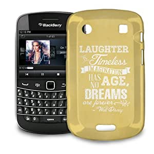 Phone Case For BlackBerry Bold 9900 / 9930 - Yellow Laughter is Timeless Walt Disney Quote Glossy Lightweight