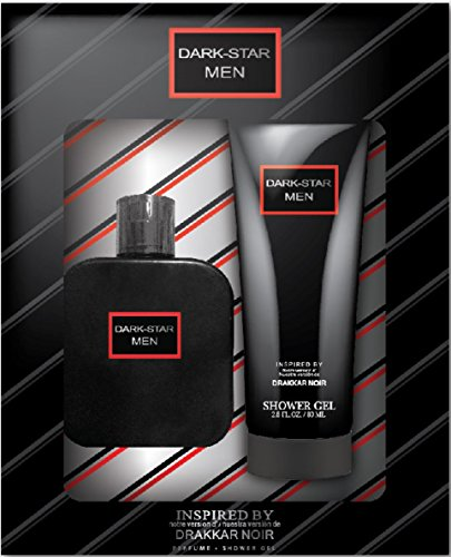 Dark Star Men's 2 Piece Gift Set – Includes 2.7 Fl.oz. 80ml Shower Gel, 1.7 Fl.oz. / 50ml EAU De Parfume – Inspired By Drakkar Noir By Guy Laroche 2 Piece Fragrance Gift Set