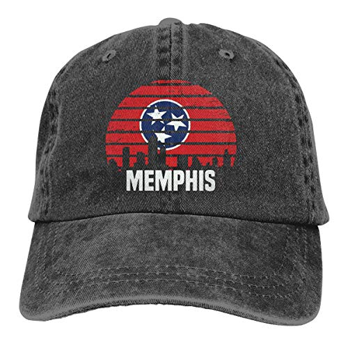 Inlenged Memphis Tennessee TN Group City Trip - Retro Denim Baseball Hat Trucker Hat Dad Hat Adjustable