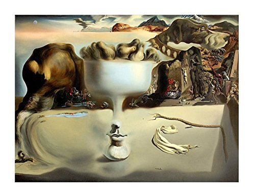 Salvador Dali Dish - Alonline Art - Apparition Of Face Fruit Dish Salvador Dali VINYL STICKER DECAL 47