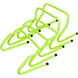 Trademark Innovations Set of 5 Adjustable Speed Training Hurdles, Light Green