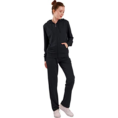 Womens Track Suits Sets 2 Piece Jogger Sweatsuits Zip Up Hoodies & Sweatpants at Women's Clothing store