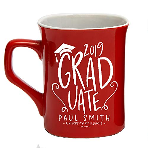 Class of 2019 Personalized Coffee Mug College/High School Graduation Gifts For Him Her Men Women | Ceramic 10oz Mug 7 Different Colors - Personalize with Name Date Year #C20 (Best Male Gifts 2019)