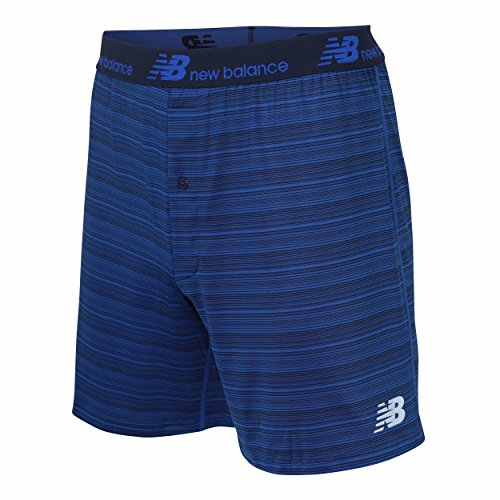 Loose Fit Boxer Underwear (New Balance Men's Dry Fresh Classic Loose Fit Boxer Brief (Pack of 1), Team Royal Stripe, Large (36-38