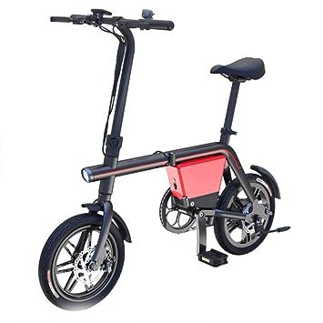 Jghjh Bicicleta Eléctrica Plegable, Resistencia De La Elevación, Bicicleta Eléctrica del Motor Trasero 36V