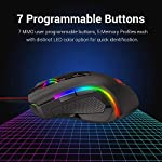 Redragon M602 RGB Wired Gaming Mouse RGB Spectrum Backlit Ergonomic Mouse Griffin Programmable with 7 Backlight Modes up…
