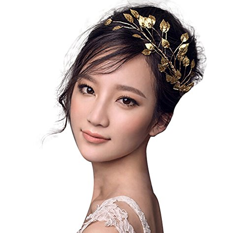 Girl Costumes Aristocratic (ThyWay Fashion Gold Tone Leaf Headwear Headdress For Women Girls Bridal)