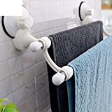 Decorative Hotel Plastic Bathroom Towel Rack Toilet Kitchen Stand Suction Cup Wall Mount Towel Rack Set
