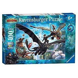 Ravensburger Italy Puzzle 100 Pezzi Xxl Dragons Multicolore 10955