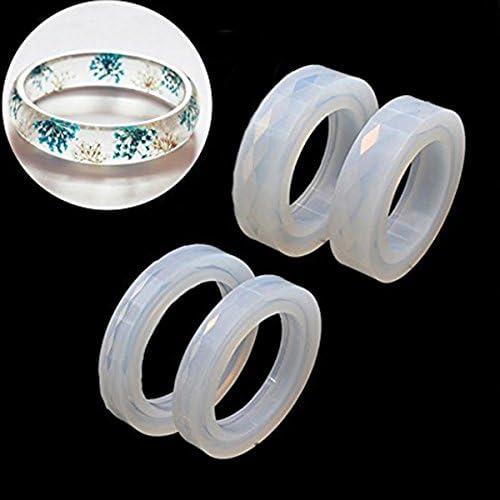 R Molde de silicona redondo para DIY Pulsera brazalete de Curva de Resina Fabricacion de joyeria Molde de Fabricacion de Pulsera SODIAL