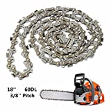 18 Inch 60 Drive Substitution Chainsaw Saw Mill Chain 3/8 Inch Links Pitch 050 Gauge husqvarna chainsaw mill ripping chain worx parts greenworks