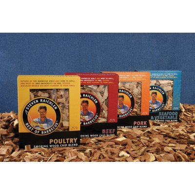 Charcoal Companion Steven Raichlen Wood Chips [Set of 2] Flavor: Seafood and Vegetables Blend