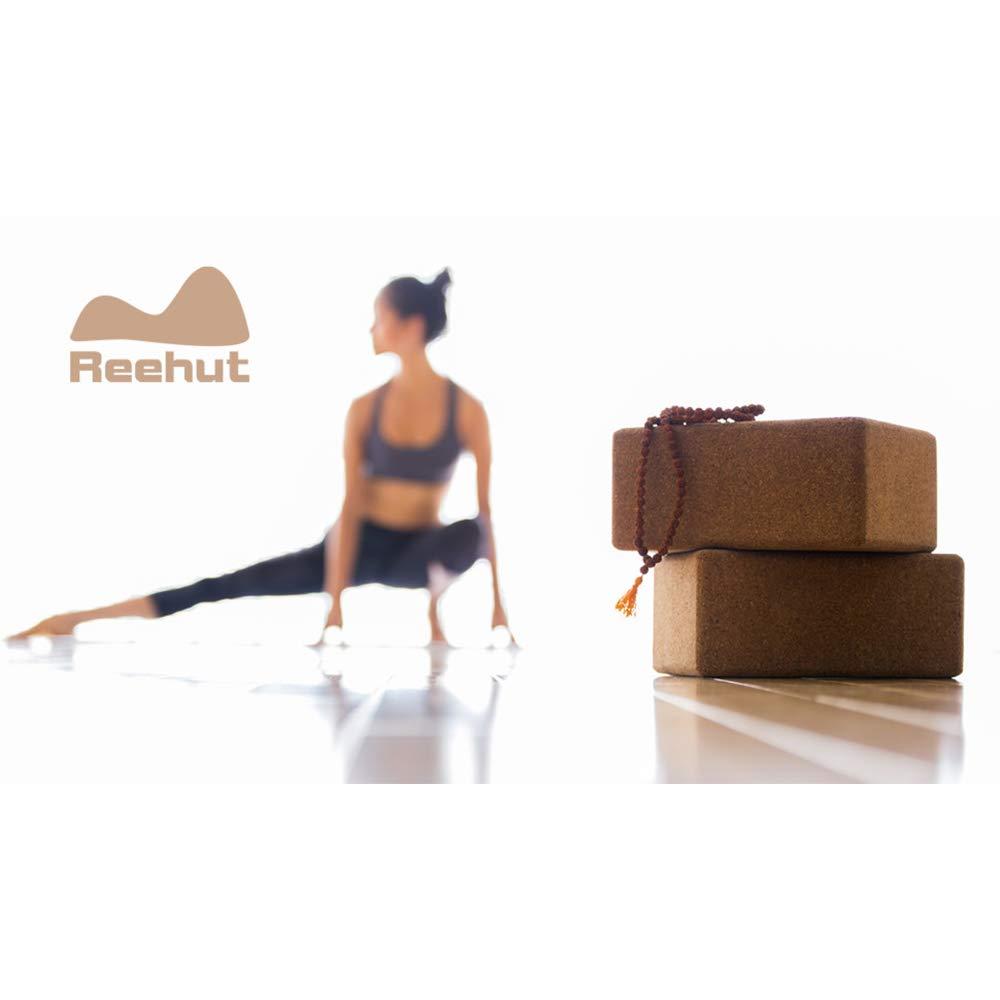 REEHUT Yoga Block 1 Bl/öcke Oder 2 Bl/öcke YogaBlock Kork und Yoga Bl/öcke aus Eva-Schaum f/ür Yoga oder Pilates Meditiation und Fitness Unterst/ützung und Balance f/ür Anf/änger und Fortgeschrittene