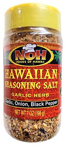 NOH Foods of Hawaii Hawaiian Seasoning Salt (Garlic Herb (Garlic, Onion, Black Pepper), 7 Ounce) -