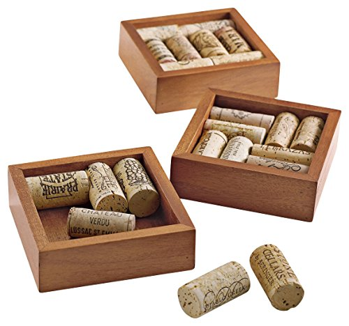 Wine Enthusiast Wine Cork Coasters Kit, Set of 4 ()