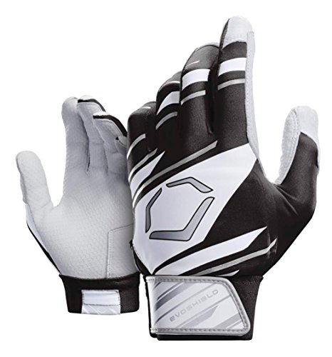 Wilson Sporting Goods Evoshield Youth Speed Stripe Batting Gloves, Black/White/Grey, Youth Small - Majestic Sporting Goods