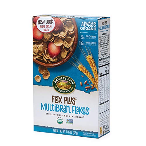 Cereal Natures Flax Path - Nature's Path Flax Plus Multibran Flakes Cereal, Healthy, Organic, 13.25 Ounce Box