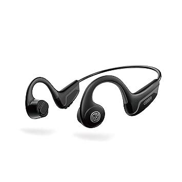 LMJAD Auriculares Conducción ósea inalámbrica Bluetooth Deportivo ...
