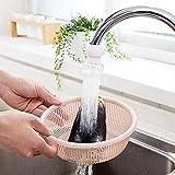 kitchen faucet grey - Bohonan 3pcs 360° Rotate Kitchen Adjustable Water-saving Faucet Extender Water Regulator Valve Shower Head Filter Adapter