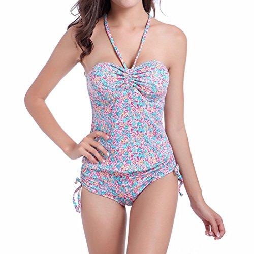 Tankini Collo D'attaccatura Beach Imposta Plus Stampa Size Sexy Per Group Rosa Donne Vita Sidiou Alta Bagno Bikini Due Le Di Vestito Raccogliere Nuoto Costume Pezzi Da XwU6Wq7H