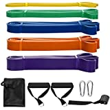 SKY TOUCH Pull Up Assist Bands,8 Packs Pull Up Assist Bands Set Resistance Loop Bands Powerlifting Exercise Stretch…