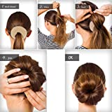 QY Extra Large Size Hair Mesh Chignon Donut To Make The Most Round Largest Doughnuts Hair Bun For Long Thick Hair, Light Beige Color