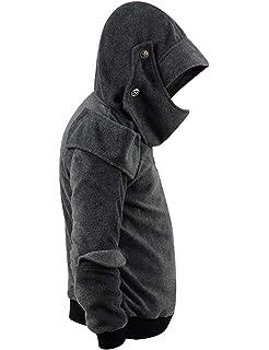 434a9b03 Men's Arthur Knight Hoodie Medieval Armor Sweatshirt Hooded Jacket Coat  Outwear Costume