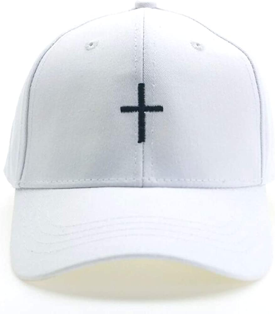 Home Fashion DIY Cross Baseball Cap Embroidered Dad Hats Adjustable Structured Cotton Baseball Hat