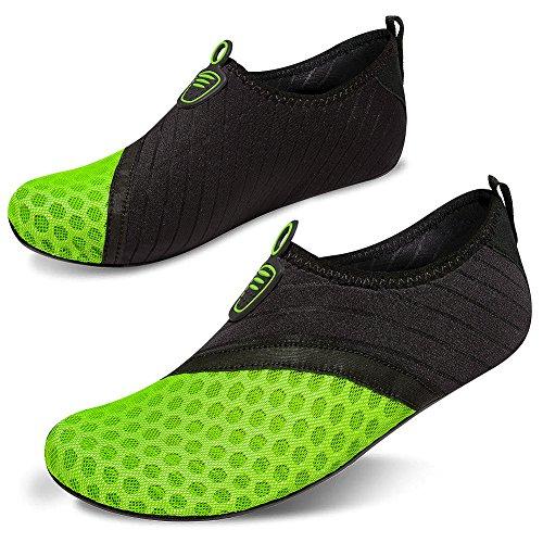 Nus Pieds À Vert Surf De Nager Aquatiques Rapide Noir Pour Chaussettes Plage Homme Femme Yoga Chaussures Msjenny Séchage Aqua Cv1Pgg