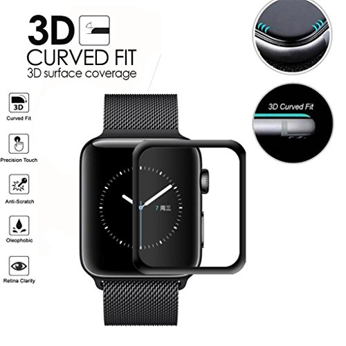 Mchoice Full Screen Curved Edge Temperature Protection For Apple Watch Series 1/2/3 42mm For - Glasses Stylish Womens 2015
