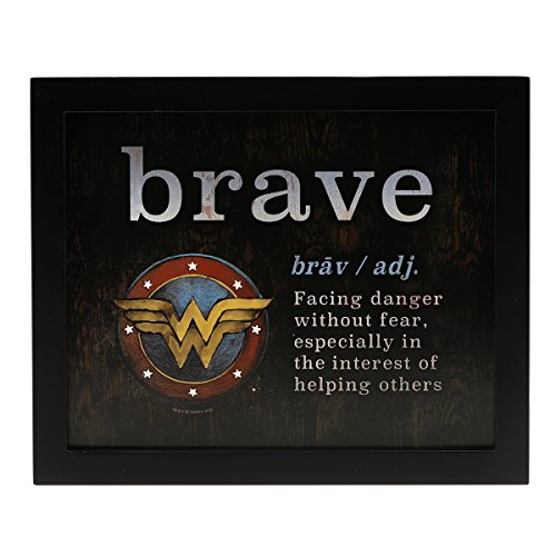 Open Road Brands Wonder Woman Determination Definition Framed Wall Decor ()