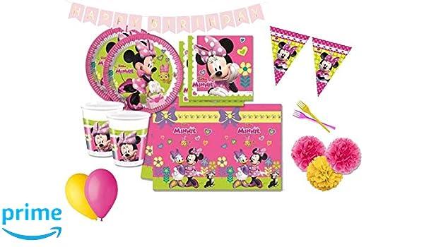 DECORATA PARTY Decoraciones de la Fiesta de cumpleaños de Minnie Mouse