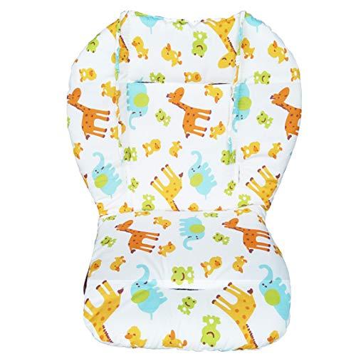Cojin de asiento para silla alta para bebe, transpirable, diseno de animales