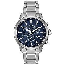 Citizen Eco-Drive Men's 'Titanium' Quartz Casual Watch, Color: Silver-Toned (Model: AT2340-56L)