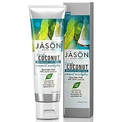 Jason Simply Coconut Refreshing Toothpaste Coconut, Eucalyptus, 4.2 Ounce