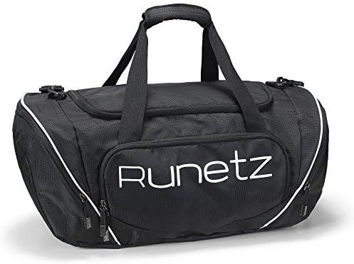 Amazon.com : Runetz - BLACK Gym Bag Athletic Sport Shoulder Bag for Men & Women Duffel 20-inch Large - Black Color: Black Size: Large Model: Office Supply Store : Office Products