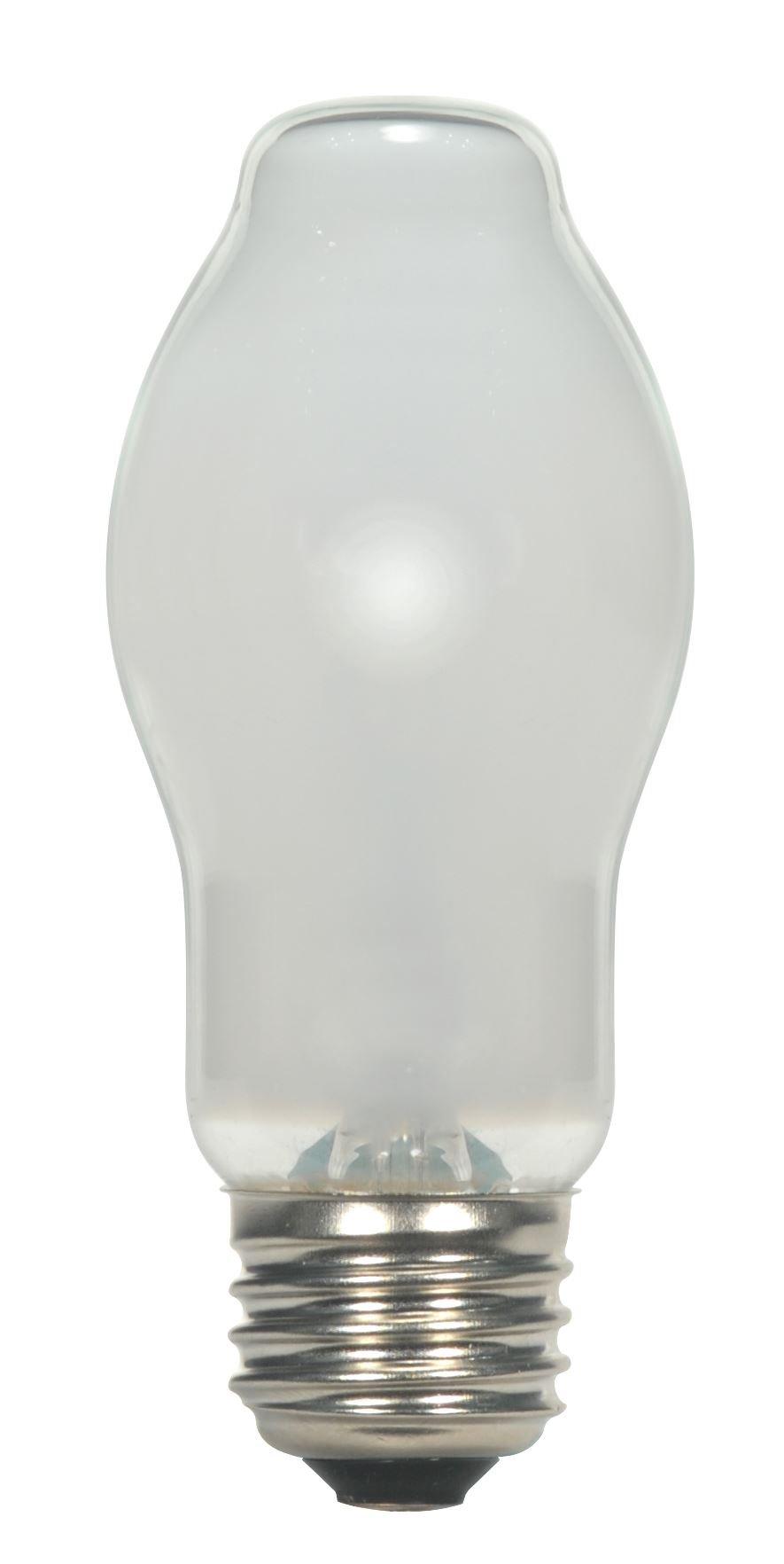 Satco 43BT15/WH/120V/E26 Card Halogen Halogen, 43W E26 BT15, White Bulb [Pack of 24]
