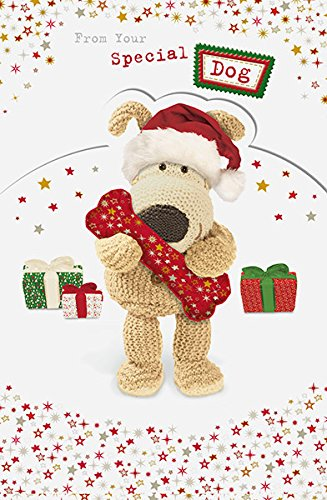 Boofle From Your Dog Adorable Die Cut Christmas Greeting Card (Boofle Christmas)
